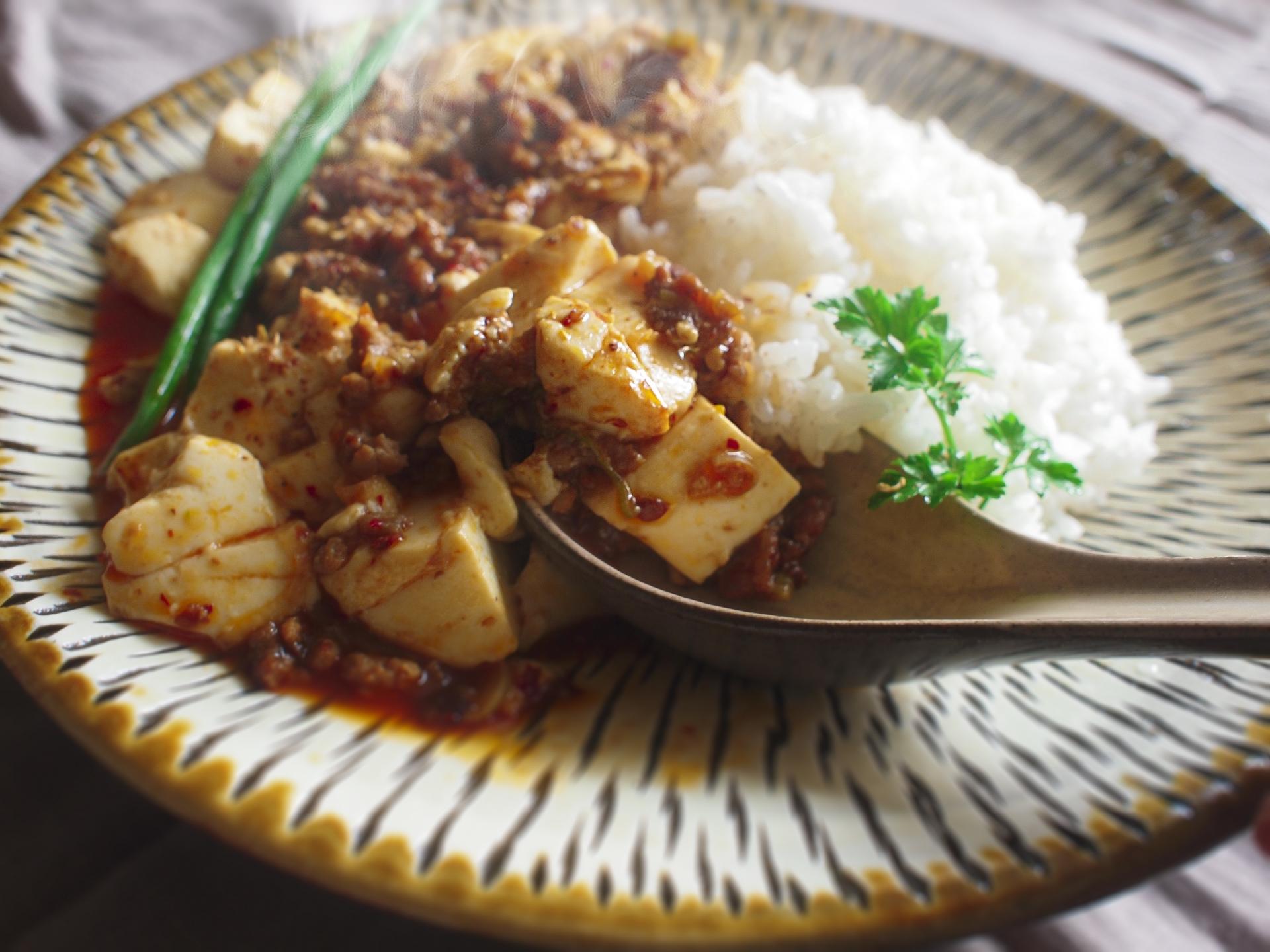 麻婆豆腐とごはん
