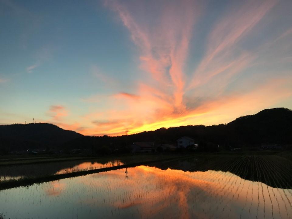 鳥取県の夕焼け