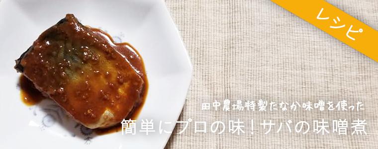 田中農場の特製みそで簡単にプロの味!サバの味噌煮