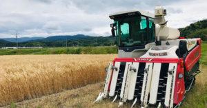 田中農場2020年小麦の収穫が始まりました