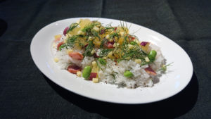 カレー専用米プリンセスかおりで洋風ちらし寿司