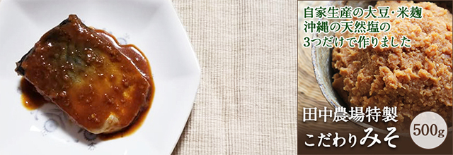 田中農場特製みそ×さばで「さばの味噌煮」