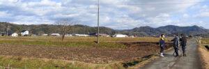 2021年1月18日TSK山陰放送テレビ イットに鳥取・田中農場の極寒越冬白ねぎを取材していただいている様子