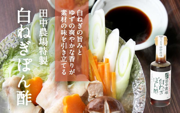 鳥取・田中農場の特別栽培白ねぎを使ったネギの旨みたっぷりの白ねぎぽん酢