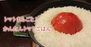 炊飯器でできるトマトを丸ごと使った簡単トマトご飯の完成画像