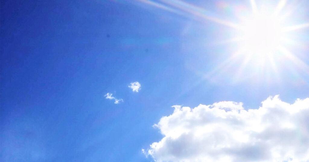 気温の上昇を表す写真