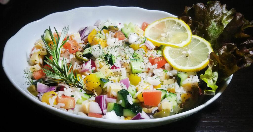 ライスサラダの完成画像