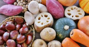 秋の味覚の食材の画像